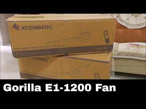 Atomberg Gorilla E1-1200 fan review – बहुत कम बिजली की खपत 28W power