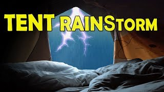 🎧 Super Relaxing Rain & Thunder on Tent | Ambient Noise for Sleeping or Studying, @Ultizzz day#83