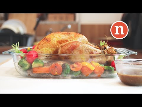 Roasted Turkey with Black Pepper Sauce [Nyonya Cooking]