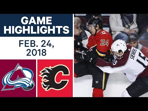 NHL Game Highlights | Avalanche vs. Flames - Feb. 24, 2018
