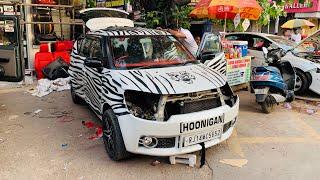 Rarest Black & White Modified Maruti Ignis | Nubuck Interior In Ignis | Ignis Music Upgrade | Ignis
