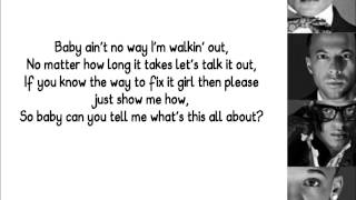 JLS- Talk It Out, with lyrics
