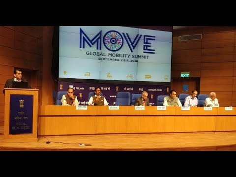 "Press Conference by Vice Chairman, NITI Aayog on ""MOVE: Global Mobility Summit-2018"""