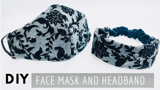 DIY Face Mask And Headband | Face Mask Sewing Tutorial