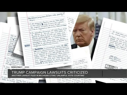 Trump campaign lawsuits criticized by Michigan leaders