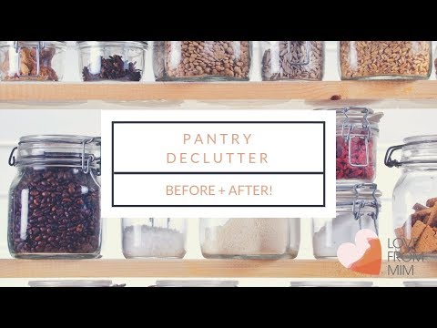 Decluttering + Cleaning my Pantry | lovefrommim.com