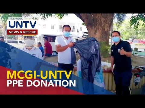 [UNTV]  MDRRMO-Apalit receives more PPEs from MCGI and UNTV for COVID-19 battle