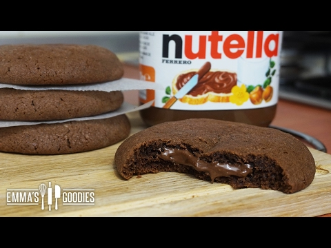 Soft Nutella Cookie Recipe ( Creamy Nutella Filling)