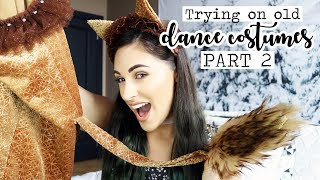 Trying On Old Dance Costumes PART 2! || Jenna Rose