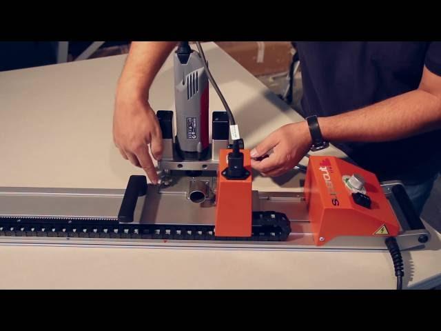 mobile Fräs- und Sägemaschine zur Formteilherstellung auf der Baustelle