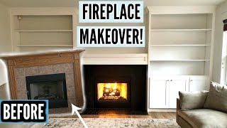 OUR DIY FIREPLACE MAKEOVER!