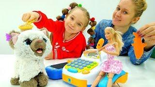Кукле Барби подарили Котенка! Игрушки Фуриал Френдс.