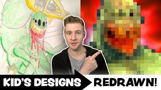KIDS ART Redrawn By A PROFESSIONAL ARTIST! - Ep.7