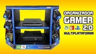 ORGANIZADOR GAMER 2.0 | Mueble para VIDEOJUEGOS | MANUALIDADES RECICLAJE | DIY Te Digo Cómo