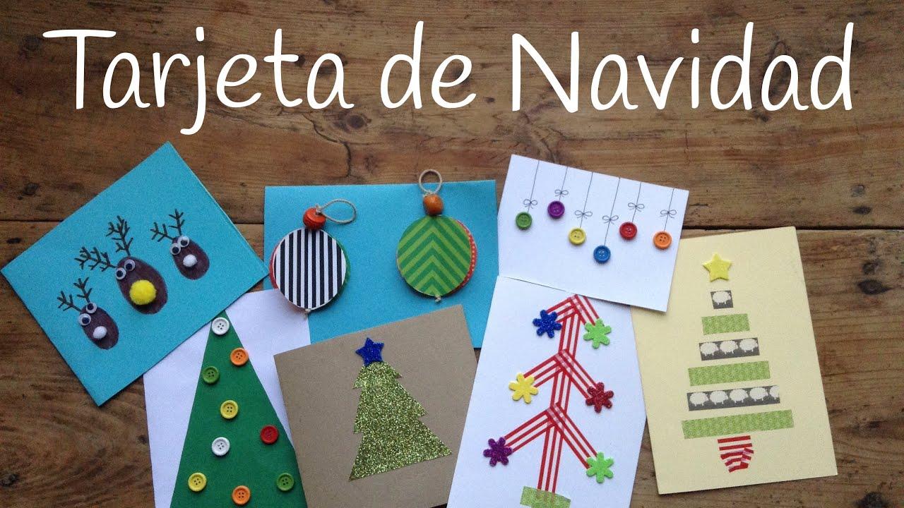 10 tarjetas de Navidad originales para niños - Manualidades navideñas fáciles
