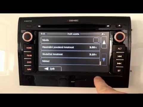 ZENEC Z-E3715 - navigace pro obytné vozy (karavany) - nastavení režimu vozidla jako