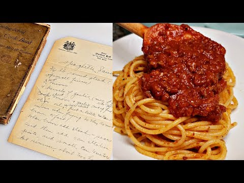 Vintage Handwritten Recipe | Spaghetti and Meat Sauce | Meat Sauce Recipe | Easy Spaghetti Sauce