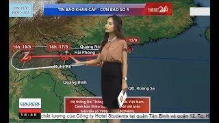 TIN BÃO KHẨN - Cơn Bão Số 4 - Sáng 16/08 Bão vào vịnh Bắc Bộ gió giật cấp 11 mưa lớn