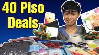 40 Items for 40 Pesos - SHOPEE HAUL (₱1SO DEALS!!!)