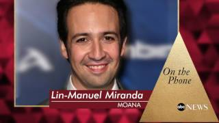 Oscars 2017 | Lin-Manuel Miranda Reacts to Moana Nod