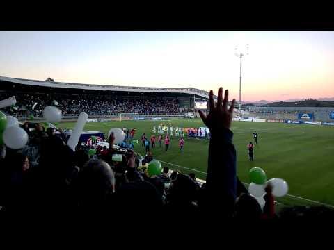"""Salida Deportes Puerto Montt-Iberia 23.03.2014.-"" Barra: Los del Sur • Club: Deportes Puerto Montt"
