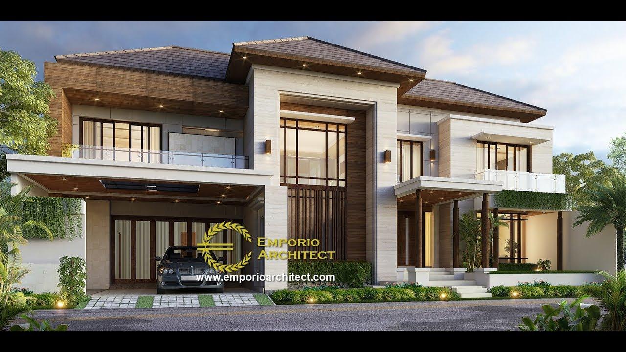 Video 3D Desain Rumah Modern 2 Lantai Bapak Anthon di Jakarta
