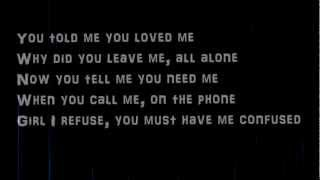 Justin Timberlake Cry Me A River Lyrics On Screen (HQ)(HD)