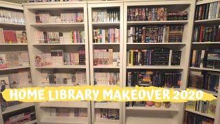 HOME LIBRARY MAKEOVER VLOG | Hemnes Ikea Shelves