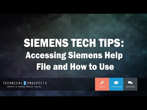 Accessing Siemens Help File and How to Use