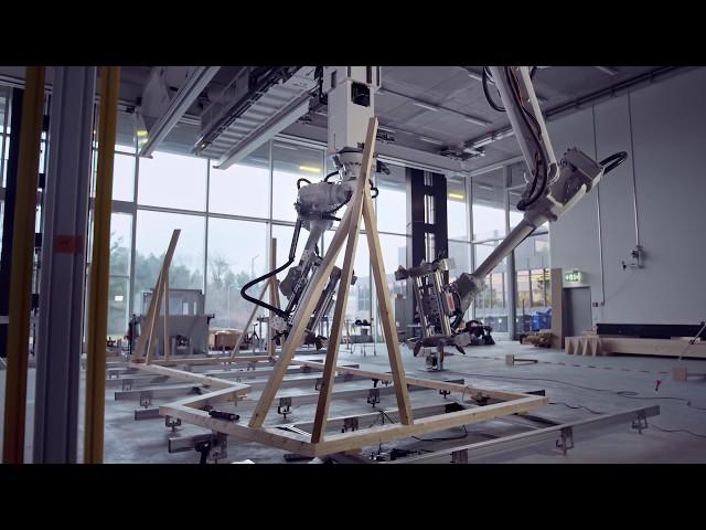 Робот DFAB House поможет построить деревянный домик