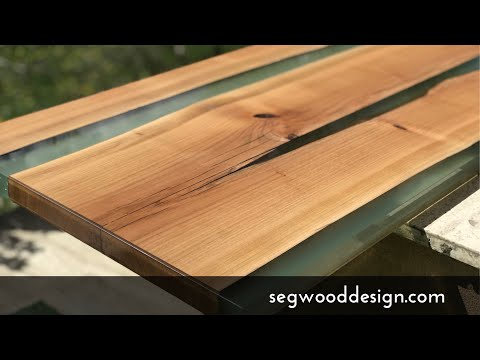 Epoxy Coffee Table Fast Build Step By Step Cherry Wood Green