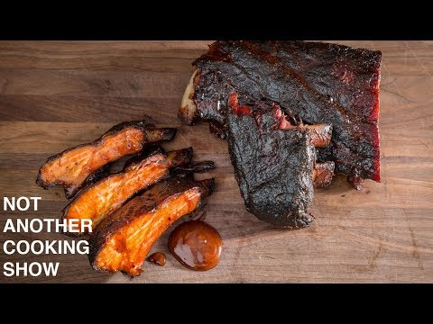 how to smoke BABY BACK RIBS on the WEBER KETTLE using the SLOW 'N SEAR
