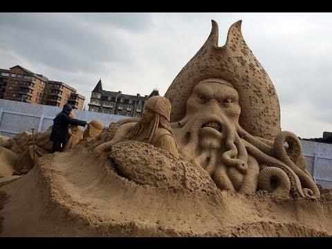 , title : 'необычные фигуры из песка  the unusual shape of the sand'