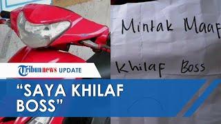 Aksi Unik Maling Takut Jadi Viral, Kembalikan Motor Curian dan Berikan Surat Cinta untuk Pemiliknya