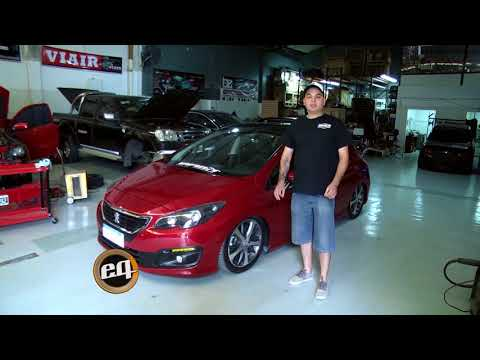 BZstyle: Kit de suspensión neumática en Peugeot 308