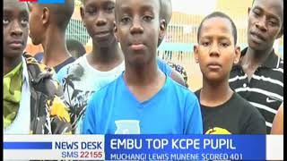 In Embu County best pupil, George Victor Muthomi scored 423 marks in KCPE 2019