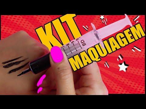 Kit de maquiagem caseira
