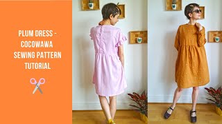 ✂ Plum Dress Tutorial - CocoWawa Sewing Pattern