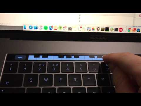 MacBook Pro Touch Bar Piano