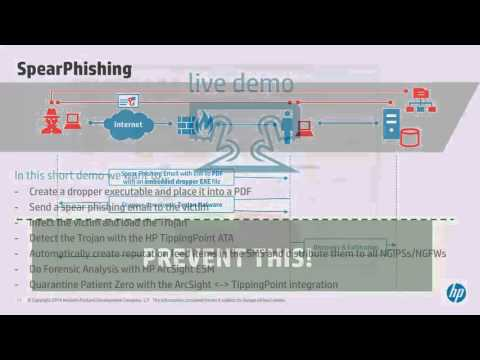 TippingPoint ATA And ArcSight ESM - Live Demo