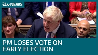 Live: MPs vote on PM's call for December 12 general election   ITV News