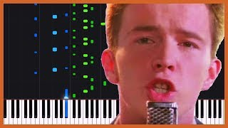 Never Gonna Give You Up - Rick Astley [Piano Tutorial] (Synthesia) // Piano Man