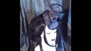 Veil of Visions' Design Clip - Black Queen hat - Gothic Fashion