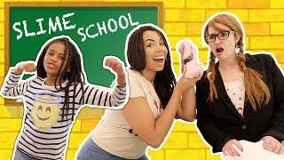Best Teacher!  Slime School New Teacher Sneaks Slime in Class - New Toy School