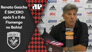 Renato Gaúcho é sincero e revela o que falou no vestiário antes de goleada do Flamengo