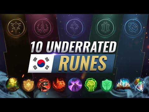 10 EXTREMELY Underrated Builds & Runes ONLY KOREANS ABUSE - League of Legends Season 10