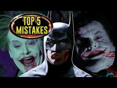 BATMAN (1989) - Top 5 Movie Mistakes, Tim Burton, Michael Keaton DC Superhero Movie