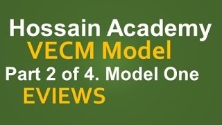 VECM. Model One. Part 2 of 4. EVIEWS