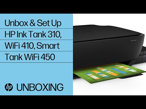 Unpacking the HP Ink Tank 310, Ink Tank Wireless 410 and Smart Tank Wireless 450 series