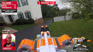Nerf War:  Parents vs Kids